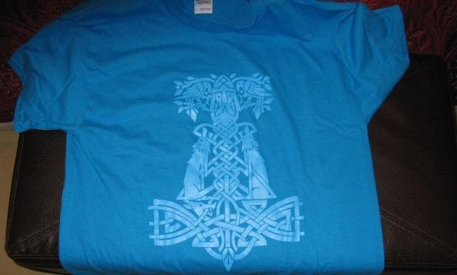 RBG Hammer of Thori Ice blue t-shirt
